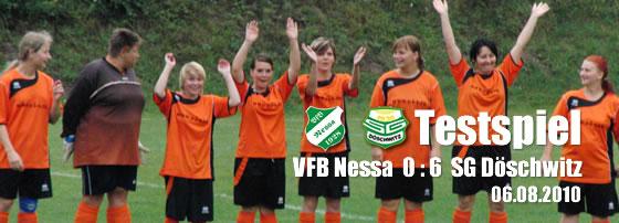 Testspiel Frauenmannschaft in Nessa