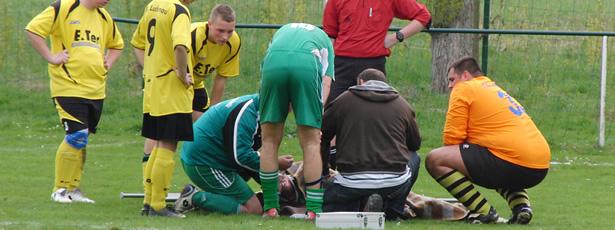 Spielabbruch nach schwerer Verletzung